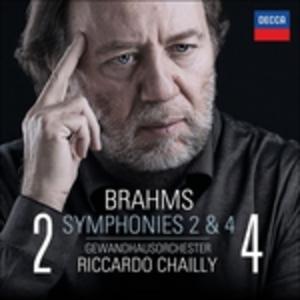 CD Sinfonie n.2, n.4 di Johannes Brahms