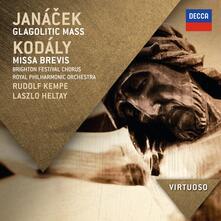 Messa glagolitica - Missa Brevis - CD Audio di Zoltan Kodaly,Leos Janacek,Royal Philharmonic Orchestra,Rudolf Kempe,Robert Tear
