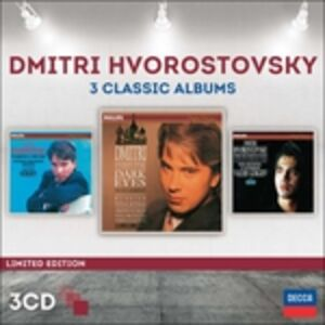 Foto Cover di 3 Classic Albums, CD di Dmitri Hvorostovsky, prodotto da Decca
