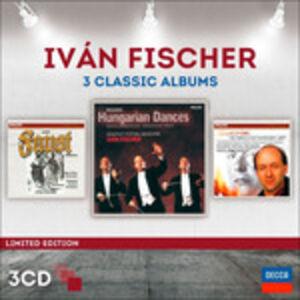 Foto Cover di 3 Classic Albums, CD di Ivan Fischer,Budapest Festival Orchestra, prodotto da Decca