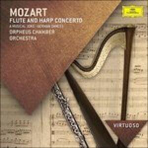 Foto Cover di Concerto per flauto e arpa K299 - Scherzo musicale K522 - Danze tedesche K567, K605, CD di Wolfgang Amadeus Mozart,Orpheus Chamber Orchestra, prodotto da Deutsche Grammophon