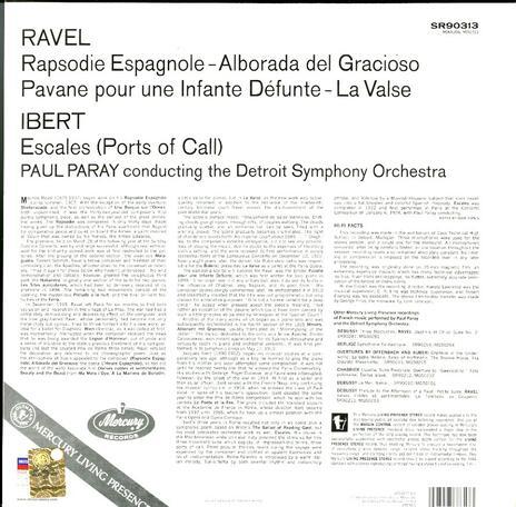 Rapsodie espagnole - La valse / Escales - Vinile LP di Maurice Ravel,Jacques Ibert,Paul Paray,Detroit Symphony Orchestra - 2