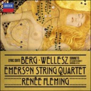 CD Lyric Suite / Sonetti / Komm, Süsser Tod Alban Berg , Eric Zeisl , Egon Wellesz