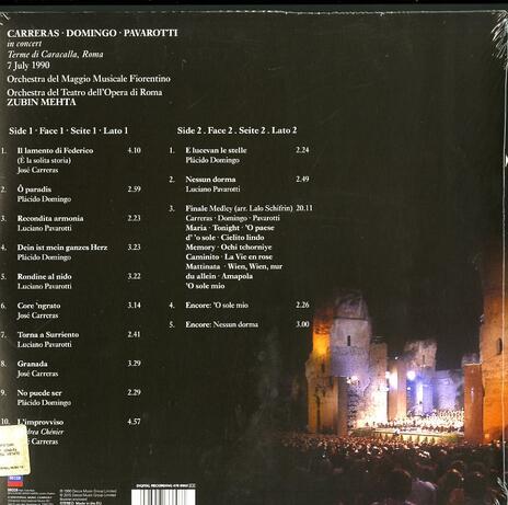 In Concert - Vinile LP di Placido Domingo,Luciano Pavarotti,José Carreras,Zubin Mehta - 2