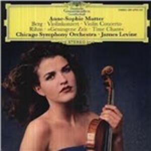 Musica per violino e orchestra - Vinile LP di Alban Berg,Wolfgang Rihm,James Levine,Anne-Sophie Mutter,Chicago Symphony Orchestra