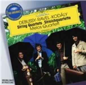 CD Quartetti per archi Claude Debussy , Maurice Ravel , Zoltan Kodaly