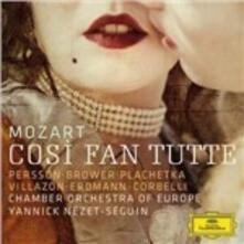 Così fan tutte - CD Audio di Wolfgang Amadeus Mozart,Rolando Villazon,Miah Persson,Chamber Orchestra of Europe,Yannick Nezet-Seguin
