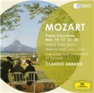 CD Concerti per pianoforte n.14, n.17, n.21, n.26 di Wolfgang Amadeus Mozart
