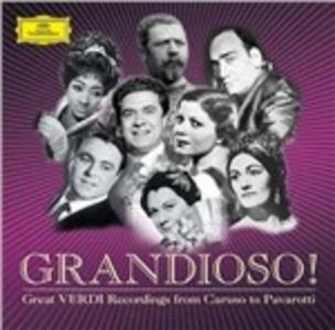 CD Grandioso! Grandi registrazioni verdiane da Caruso a Pavarotti