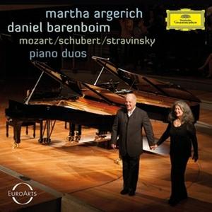 CD Duetti per pianoforte Wolfgang Amadeus Mozart , Franz Schubert , Igor Stravinsky
