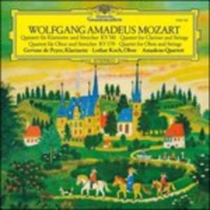 Quintetto con clarinetto - Quartetto con oboe - Vinile LP di Wolfgang Amadeus Mozart,Amadeus Quartet