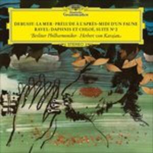 La mer - Prélude à l'après-midi d'un faune / Daphnis et Chloé - Vinile LP di Claude Debussy,Maurice Ravel,Herbert Von Karajan,Berliner Philharmoniker