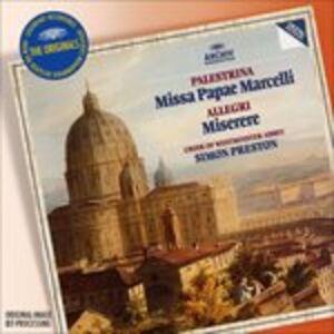 CD Missa Pape Marcelli di Giovanni Pierluigi da Palestrina
