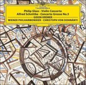 Vinile Concerto per violino / Concerto grosso n.5 Philip Glass Alfred Schnittke Gidon Kremer