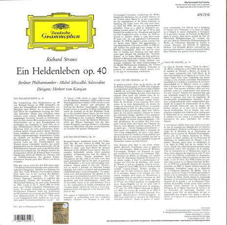 Vita d'eroe - Vinile LP di Richard Strauss,Herbert Von Karajan,Berliner Philharmoniker - 2