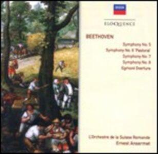 CD Sinfonie n.5, n.6, n.7, n.8 - Ouverture Egmont di Ludwig van Beethoven