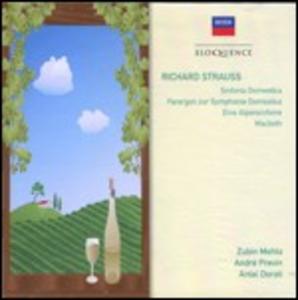 CD Sinfonia domestica - Parergon - Sinfonia delle Alpi - Macbeth di Richard Strauss
