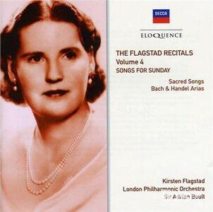 Foto Cover di Songs for Sunday, CD di Kirsten Flagstad, prodotto da Decca