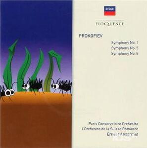 Foto Cover di Prokofiev Symphonies, CD di Sergei Sergeevic Prokofiev,Ernest Ansermet, prodotto da Eloquence