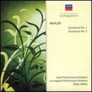 CD Sinfonie n.1, n.3 di Gustav Mahler