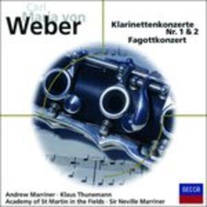 CD Klarinettenkonzert 1, 2, di Carl Maria Von Weber