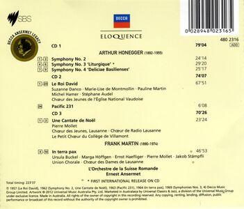Foto Cover di Honegger. Symph 2 - 4; Chor, CD di Arthur Honegger,Ernest Ansermet, prodotto da Eloquence 1
