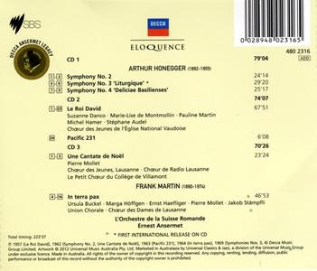 CD Honegger. Symph 2 - 4; Chor Arthur Honegger , Frank Martin 1