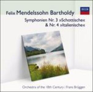 Foto Cover di Sinfonie n.3, n.4, CD di Felix Mendelssohn-Bartholdy,Frans Brüggen, prodotto da Audior