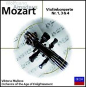 CD Concerti per violino n.1, n.3, n.4 di Wolfgang Amadeus Mozart