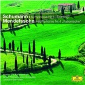 CD Sinfonia n.1 / Sinfonia n.4 Robert Schumann , Felix Mendelssohn-Bartholdy