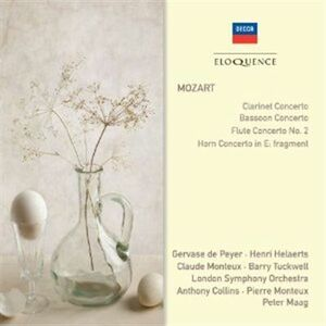 Foto Cover di Clarinet Concerto; Bassoo, CD di Wolfgang Amadeus Mozart, prodotto da Eloquence