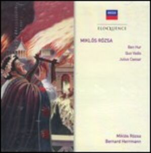 CD Ben Hur - Julius Ceasar - Quo Vadis (Colonna Sonora) di Miklos Rozsa