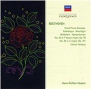 CD Sonate per pianoforte n.8, n.14, n.21, n.23, n.24 - Fantasia corale di Ludwig van Beethoven