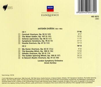 Foto Cover di Overtures & Tone Poems, CD di Antonin Dvorak, prodotto da Eloquence 1