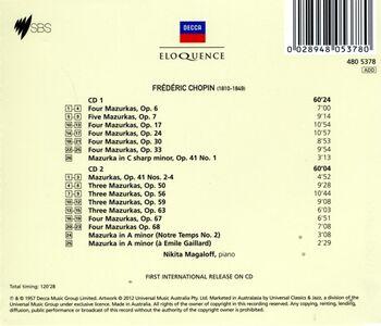 CD Mazurke di Fryderyk Franciszek Chopin 1