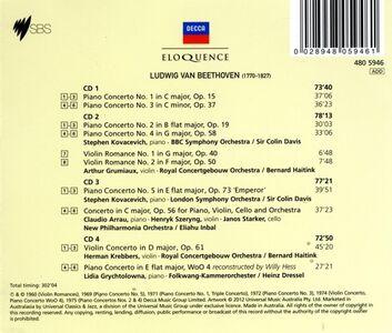 Foto Cover di I concerti, CD di Ludwig van Beethoven, prodotto da Eloquence 1