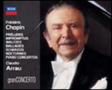 CD Claudio Arrau Plays Frederic Chopin di Fryderyk Franciszek Chopin