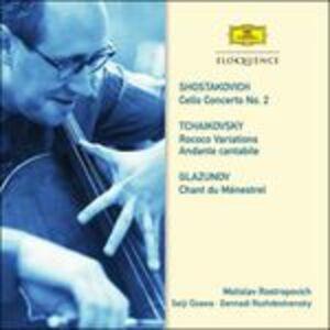 CD Concerto per violoncello n.2 / Variazioni rococò - Quartetto per archi n.1 / Chant du ménestrel op.71 Dmitri Shostakovich , Pyotr Il'yich Tchaikovsky , Alexander Kostantinovich Glazunov
