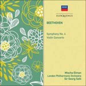 Foto Cover di Symphony n.4 Violin, CD di Ludwig van Beethoven, prodotto da Eloquence