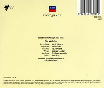 Foto Cover di La valchiria (Die Walküre), CD di Richard Wagner, prodotto da Eloquence 1