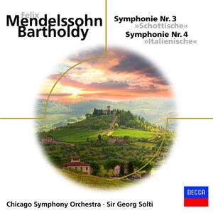 Foto Cover di Sinfonie n.3, n.4, CD di Felix Mendelssohn-Bartholdy, prodotto da Decca