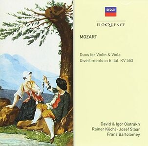 Foto Cover di Duos for Violin & Viola, CD di Wolfgang Amadeus Mozart, prodotto da Eloquence