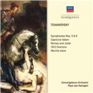 CD Symphonies 5, 6, Tone.. di Pyotr Il'yich Tchaikovsky