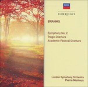 CD Symphony No. 2 - Overtures di Johannes Brahms
