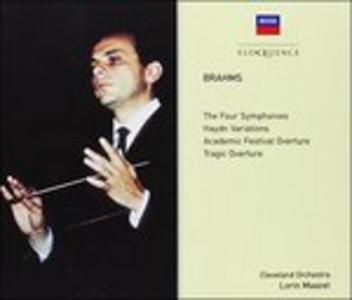 CD Symphonies No. 1 - 4 - Overtur di Johannes Brahms