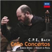 Concerti per violoncello - CD Audio di Carl Philipp Emanuel Bach,Enrico Dindo