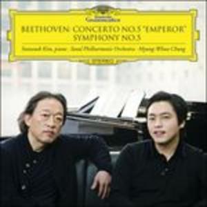 CD Concerto per pianoforte n.5 - Sinfonia n.5 di Ludwig van Beethoven
