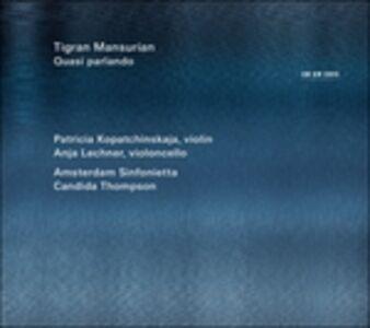 Foto Cover di Quasi parlando, CD di Tigran Mansurian, prodotto da ECM Records
