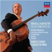 CD Concerto per violoncello e archi n.2 op.103 / Le gran tango - Ave Maria - Las cuatro estaciones - Oblivion Astor Piazzolla Enrico Dindo Nicolai Kapustin
