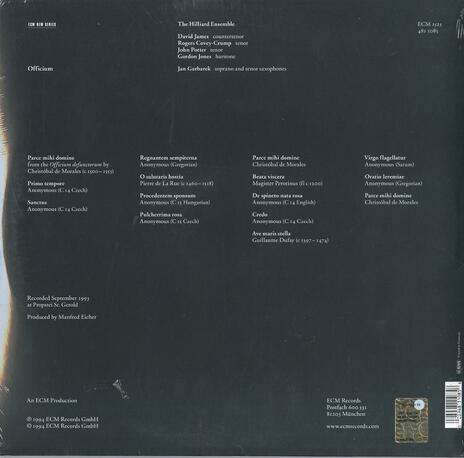 Officium - Vinile LP di Jan Garbarek,Hilliard Ensemble - 2